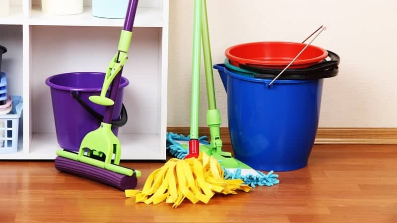 domestic cleaning supplies